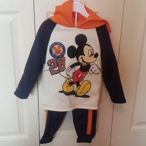 Brand new Mickey Mouse sweatshirt and sweatpants
